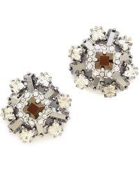Kate Spade Space Age Floral Stud Earrings  - Lyst