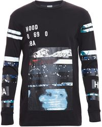 Hood By Air Graphic Print Cotton Long Sleeve Tshirt - Lyst