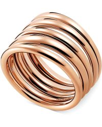 CALVIN KLEIN 205W39NYC - Rose Gold-tone Pvd Multi-row Ring - Lyst