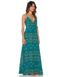 Tigerlily Antibes Wrap Maxi Dress - Lyst