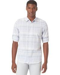 Calvin Klein Modern Fit Seersucker Large Multi Plaid Sport Shirt - Lyst