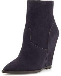 Ash Jasmine Suede Wedge Boots - Lyst