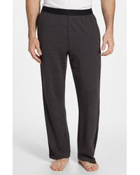 Calvin Klein Cotton Blend Lounge Pants gray - Lyst