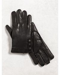 John Varvatos - Nappa Sheepskin Snap Glove - Lyst
