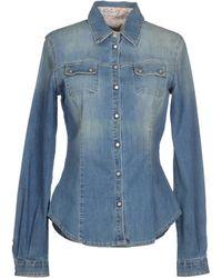 Blue Les Copains Denim Shirt - Lyst