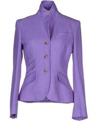 Ralph Lauren Blazer purple - Lyst