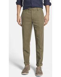 Bonobos Slim Fit Linen Trousers - Lyst