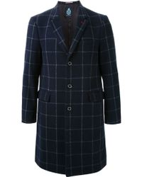 Guild Prime - Checked Overcoat - Lyst
