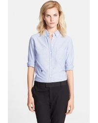 Band of Outsiders Long Sleeve Oxford Shirt - Lyst