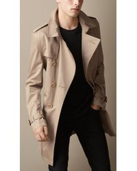 Burberry Cotton Twill Trench Coat - Lyst