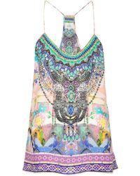 Camilla - Embellished Printed Vest - Lyst