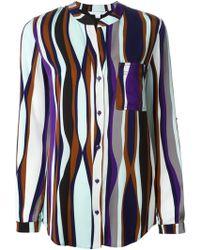 Diane Von Furstenberg Striped Blouse - Lyst