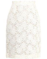 Giambattista Valli Floral Macramé-Lace Pencil Skirt - Lyst