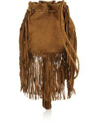 Antik Batik Bertil Fringed Suede Shoulder Bag - Lyst