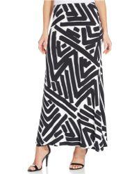 Karen Kane Brushstroke-print Maxi Skirt - Lyst