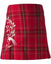 Clements Ribeiro | Pleated Tartan Skirt | Lyst