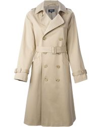 A.P.C. Classic Trench Coat - Lyst