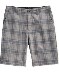 Volcom Frickin' Static Plaid Hybrid Shorts - Lyst