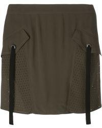 Damir Doma 'Riles' Mini Skirt green - Lyst