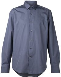Lanvin Gray Classic Shirt - Lyst