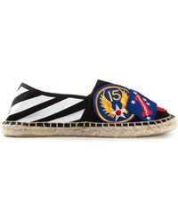 Off-white White Patchwork Espadrilles - Lyst