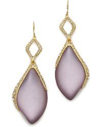 Alexis Bittar Crystal Dangle Earrings - Prairie Crocus - Lyst
