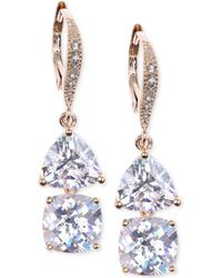 Judith Jack Gold-plated Crystal Double Drop Earrings - Lyst