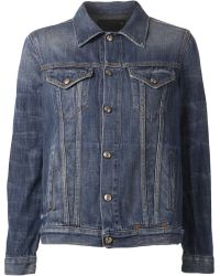 R13 Distressed Denim Jacket - Lyst