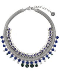 BCBGeneration Coiled Silver-tone and Mixed Stone Necklace - Lyst