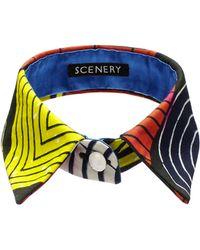 Scenery Label - Printed Collar - Lyst