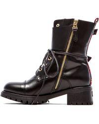 Chiara Ferragni Black Combat Boot - Lyst