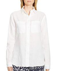 Ralph Lauren Lauren Linen Tunic white - Lyst