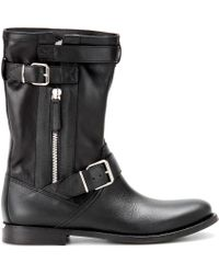Burberry Brit - Grantville Leather Biker Boots - Lyst