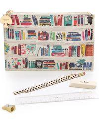 Kate Spade Bella Bookshelf Pencil Pouch - Bella Bookself - Lyst