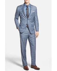 Samuelsohn Men'S Big & Tall Classic Fit Windowpane Wool Suit - Lyst