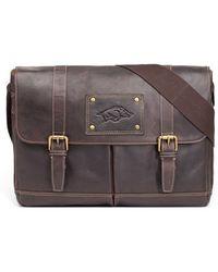 Jack Mason Brand - 'gridiron - Arkansas Razorbacks' Leather Messenger Bag - Lyst