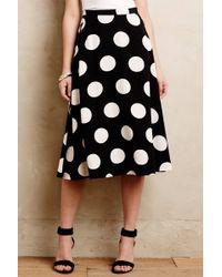 Anthropologie Deco Dot Midi Skirt - Lyst