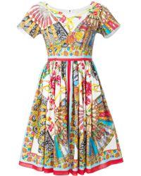 Dolce & Gabbana Sicilian Folklore Print Dress - Lyst