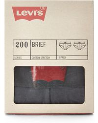 Levi's Two-pack Charcoal 200 Series Briefs - Lyst