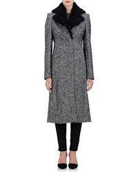 Edun - Shearling-collar Coat - Lyst