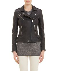 IRO Leather Biker Jacket - Lyst