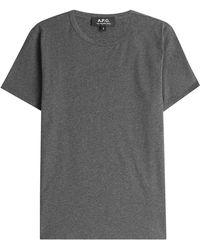 A.P.C. | Cotton T-shirt - Grey | Lyst