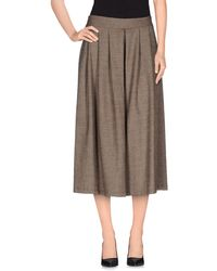 Please 3/4-Length Trousers brown - Lyst
