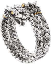 John Hardy 'Naga' Double Coil Dragon Bracelet silver - Lyst
