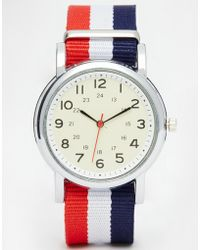 Reclaimed (vintage) Canvas Strap Watch multicolor - Lyst