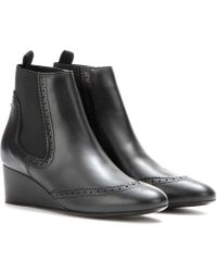 Balenciaga Leather Wedge Boots - Lyst