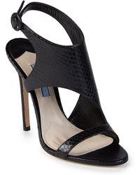 Prada | Asymmetrical Snakeskin Sandals | Lyst
