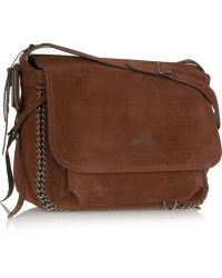 Coach Dakota Chaintrimmed Suede Shoulder Bag - Lyst