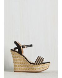 Top Guy International - Glam On A Mission Wedge In Black - Lyst