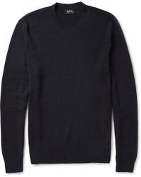 A.P.C. Wool and Cotton-blend Sweater - Lyst